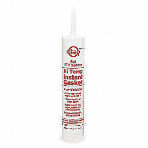 High Temp., Sensor-Safe Red RTV Silicone Sealant, 11.1 oz.