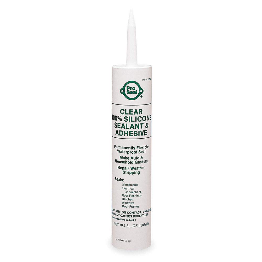 Waterproof RTV Silicone Sealant, -75 to 500°F Temp  Range, Full Cure 24  hr , Clear, 11 1 oz