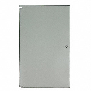 "Door Toilet Partition, Baked Enamel Steel, Gray, 58"" x 26"""