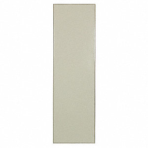 "42"" x18"" Urinal Screen Toilet Partition, Baked Enamel Steel, Almond"