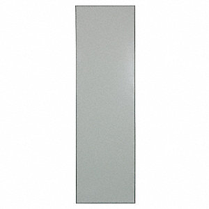 "42"" x24"" Urinal Screen Toilet Partition, Baked Enamel Steel, Gray"