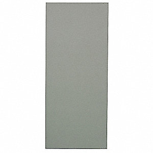"Door Toilet Partition, Solid Plastic Polymer, Gray, 55"" x 26"""