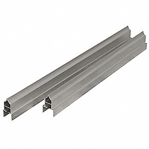 HEADRAIL,98 IN W,FOR STEEL PARTITION
