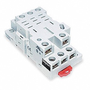 Relay Socket, Socket Type: Finger Safe, Socket Style: Square, Number of Pins: 11