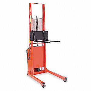 "Hydraulic Stacker, 1000 lb., Fork Width 3"", Fork Length 25"", Lifting Height Max. 76"""