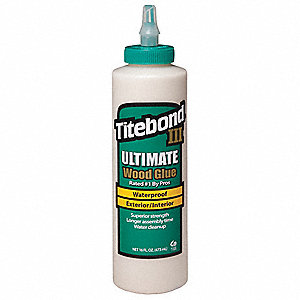 16 oz. Water-Resistant Wood Glue, Ultimate, Tan