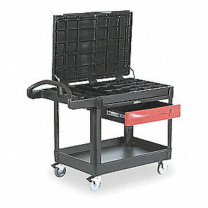 Black Trade Cart/Service Bench, 500 lb. Load Capacity