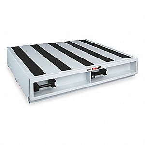 "White Truck or Van Door Storage Tray, Steel, 48"" Width, 48"" Depth, Number of Drawers: 1"