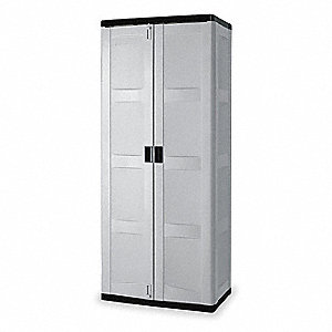 "Storage Cabinet, Gray, 72-3/8"" Overall Height, Unassembled"