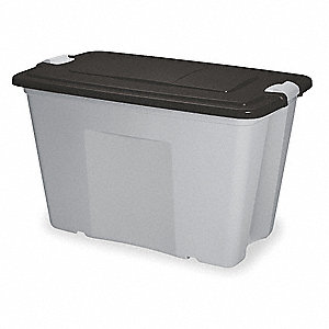 Storage Tote,15-1/8 In. H,31-1/2 In. L