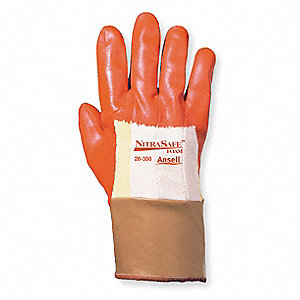 Cut Resistant Gloves,Orange/Gold,XL,PR