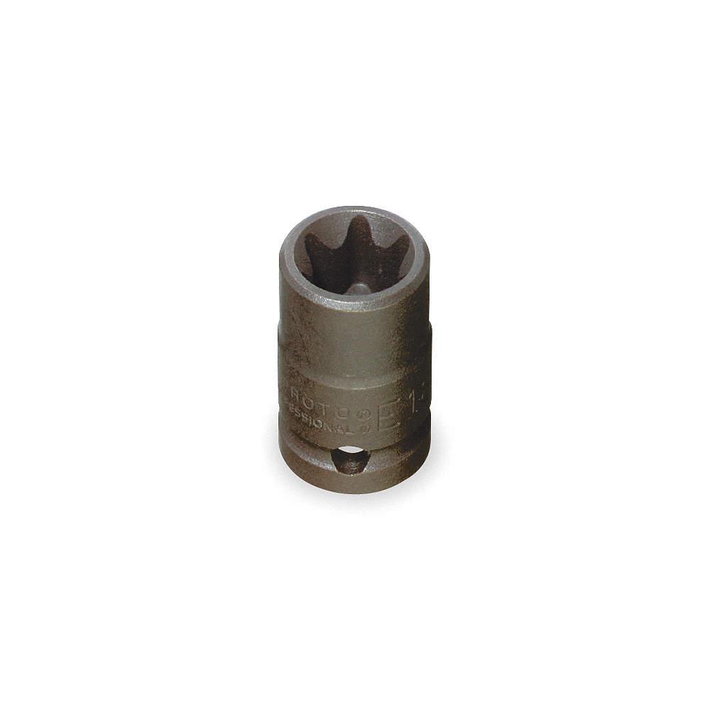 PROTO Alloy Steel Impact Socket,1//2 In Dr,E14,Torx J7414TX