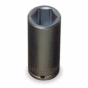 Impact Socket,1/2 In Dr,1-1/2 In,6 pt