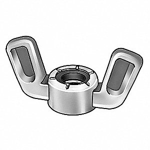 Wing Nut,#10-32,Zinc Alloy,ZP,PK25