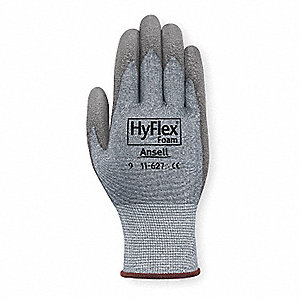 Polyurethane Cut Resistant Gloves, ANSI/ISEA Cut Level 2, Dyneema® HPPE Lining, Gray, 11, PR 1