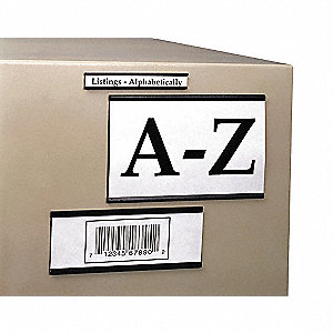 Label Holder,Magnetic,2x6,PK25