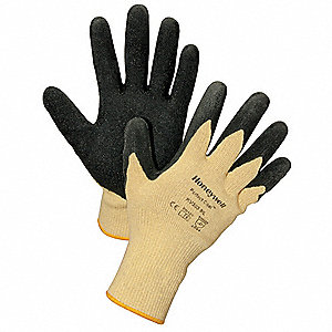Cut Resistant Gloves,Yellow/Black,L,PR