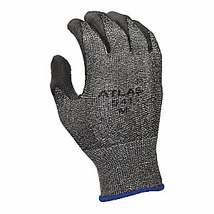 Polyurethane Cut Resistant Gloves, ANSI/ISEA Cut Level 2 Lining, Gray, L, PR 1