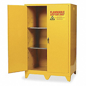 "90 gal. Flammable Cabinet, 69"" x 43"" x 34"", Manual Door Type"