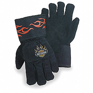 Uncoated Cut Resistant Gloves, ANSI/ISEA Cut Level 3, Kevlar® Lining, Black/Orange, XL, PR 1