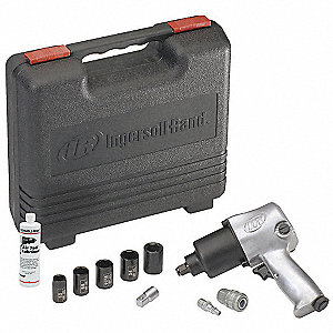 Air Impact Wrench Kit,1/2 In.,8000 rpm