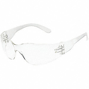 Condor  V Scratch-Resistant Safety Glasses, Clear Lens Color