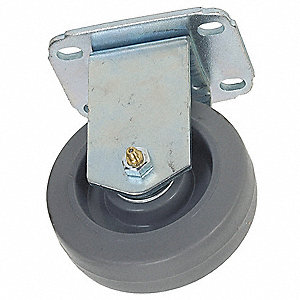 "4"" Light-Duty Rigid Plate Caster, 165 lb. Load Rating"