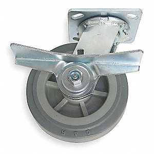 "6"" Plate Caster, 450 lb. Load Rating"