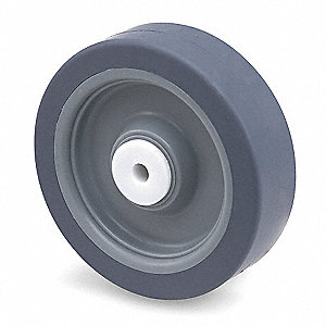 "4"" Caster Wheel, 250 lb. Load Rating, Wheel Width 1-1/4"", Thermoplastic Rubber, Fits Axle Dia. 3/8"""