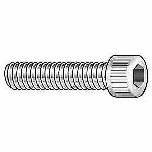 "#10-24 x 3/8"", Vented, Socket Head Cap Screw, 18-8, Stainless Steel, Plain Finish, 5PK"