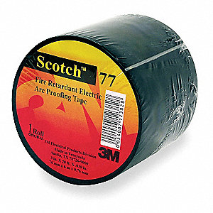 "Black Flame Retardant Intumescent Elastomer Electrical Tape, 1-1/2"" Width, 20 ft. Length, 30.00 mil"