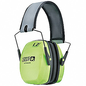 27dB Folding Ear Muff, Green&#x3b; ANSI S3.19-1974