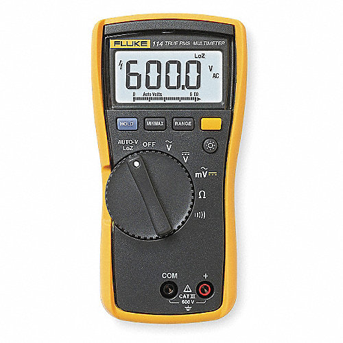 Multímetro Digital, 6000 Conteos, Precisión ±0.50% de la Lectura, + 2 Dígitos, TRMS, Voltios Máx. CA 600