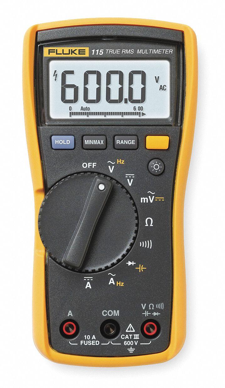FLUKE (R) Fluke-115 Compact - Basic Features Digital Multimeter, Instrument  Counts: 6000