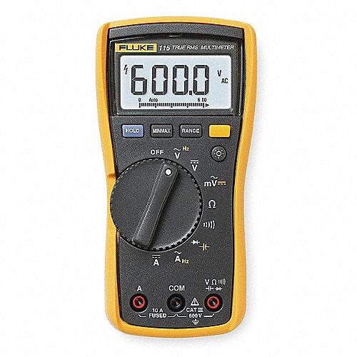 Multímetro Digital, 6000 Conteos, Precisión ±0.50% de la Lectura, + 2 Dígitos, TRMS, Amperes Máx. CA 10, Voltios Máx. CA 600