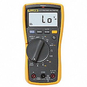 FLUKE (R) Fluke-117 Compact - Basic Features Digital Multimeter, 14° to 122°F Temp. Range