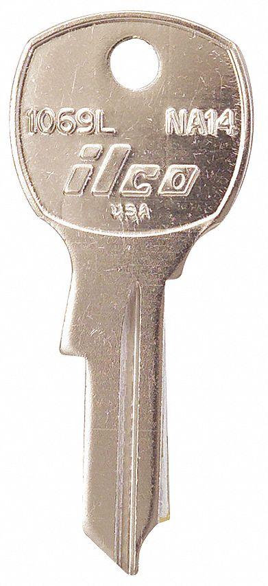 PK10 Kaba Ilco L1054B-IN8 Key Blank Type IN8 Brass