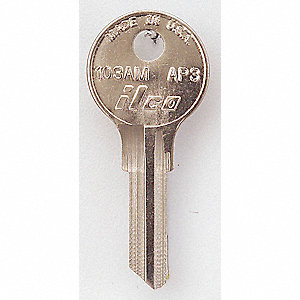 KEY BLANK,BRASS,TYPE AP3,5 PIN,PK 1
