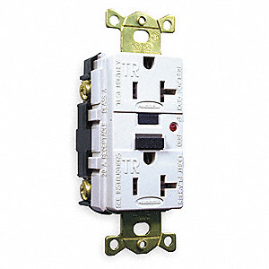 Hubbell Wiring Device Kellems 20a Industrial Gfci Receptacle White Tamper Resistant Yes 1gbx3 Gfr5362wtr Grainger