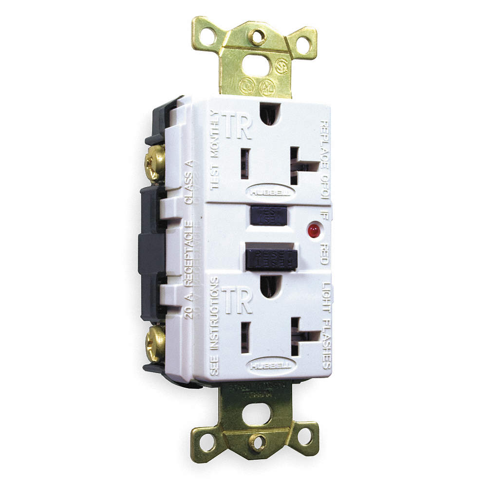 Hubbell Wiring Device Kellems 20a Industrial Gfci Receptacle White