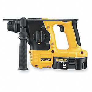 Cordless Rotary Hammer Drill Kit, 18.0 Voltage, 0 to 4100 Blows per Minute, Battery Included