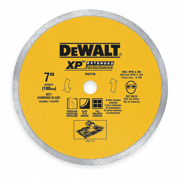 Dewalt 10 Wet Diamond Saw Blade Continuous Rim Type Application Masonry 4dv76 Dw4761