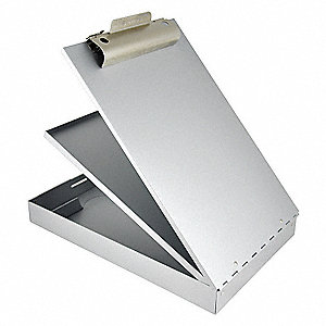 Portable Storage Clipboard,Letter,Silver