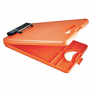 Portable Storage Clipboard,Letter,Orange