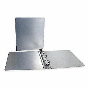 saunders silver 1 3 ring binder 8 1 2 x 11 sheet size aluminum