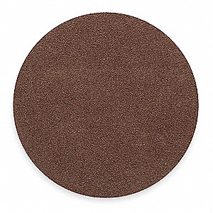 PSA Sanding Disc,AlO,Cloth,24in,36 Grit