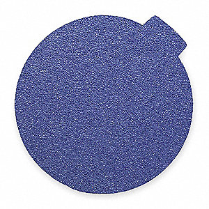 PSA Sanding Disc,ZircAlO,Cloth,12in,80G