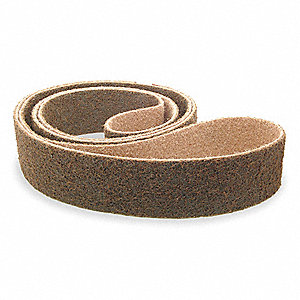 Sanding Belt,3/8 In Wx13 In L,AO,80GR
