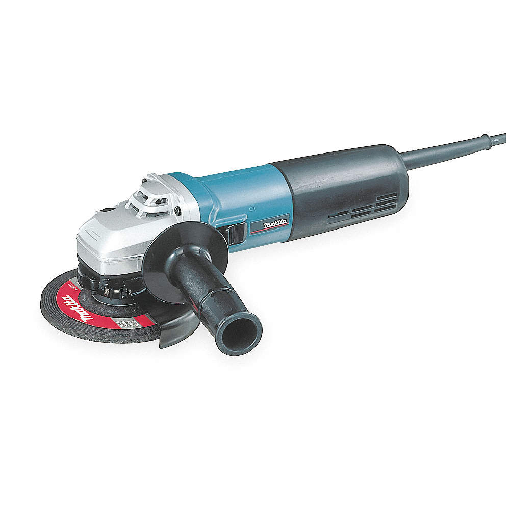 Milwaukee Small Angle Grinder Corded 11 Amp 4-1//2 in Dia Wheel Variable Speed