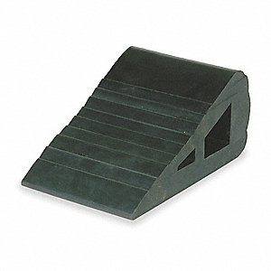 Wheel Chock,4 In W x 3 In H,Black